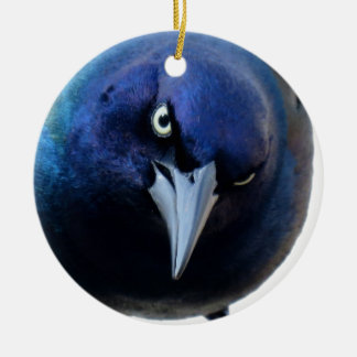 The Angry Grackle Ceramic Ornament
