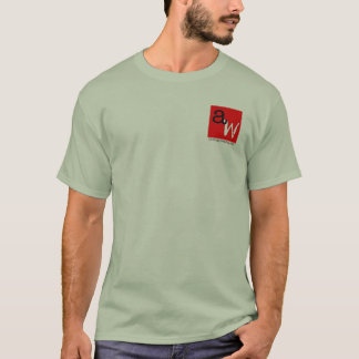The Angry Waiter T-Shirt - Pocket Red Square Gray