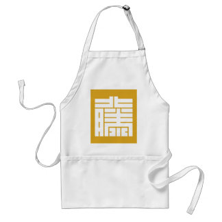 The angular letter of the rattan (questioning,) standard apron