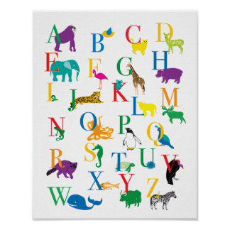 The Animal Alphabet Print