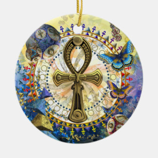 The Ankh Ceramic Ornament