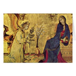 The Annunciation 13th century Card
