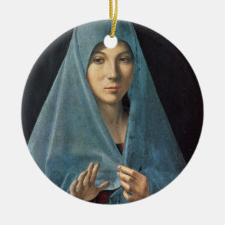 The Annunciation, 1474-75 (oil on panel) Round Ceramic Decoration