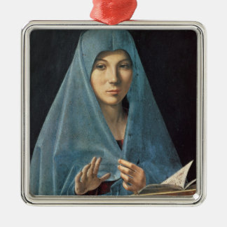 The Annunciation, 1474-75 (oil on panel) Silver-Colored Square Decoration