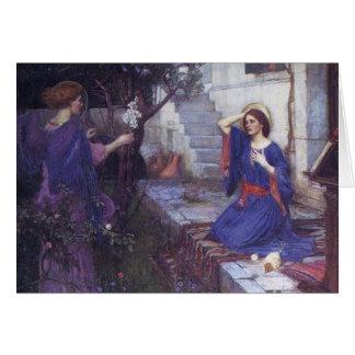 The Annunciation an Angel Christmas Card