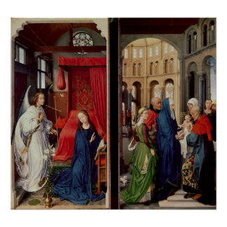 The Annunciation and the Presentation in Temple Poster