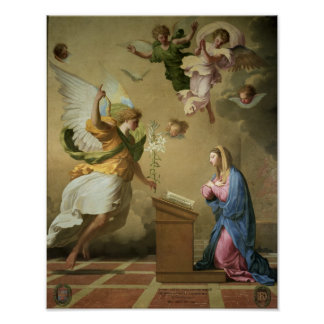 The Annunciation, before 1652 Poster