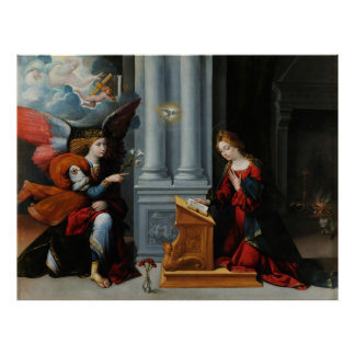The Annunciation by Benvenuto Tisi Posters