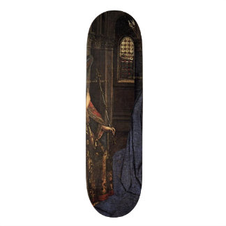 The Annunciation by Jan van Eyck 19.7 Cm Skateboard Deck