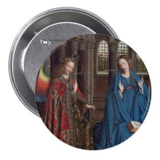 The Annunciation by Jan van Eyck Button