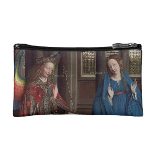 The Annunciation by Jan van Eyck Cosmetics Bags