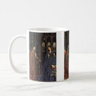 The Annunciation by Jan van Eyck Basic White Mug