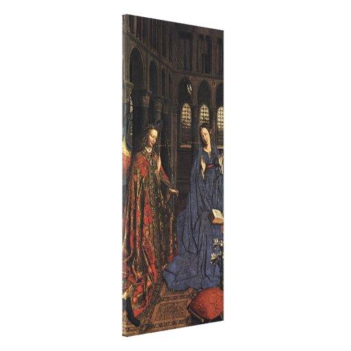 The Annunciation by Jan van Eyck Gallery Wrap Canvas