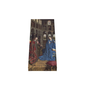 The Annunciation by Jan van Eyck Canvas Print
