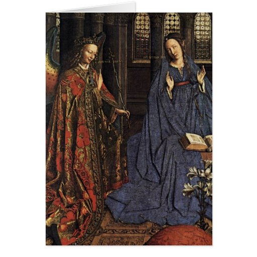 The Annunciation by Jan van Eyck Greeting Cards