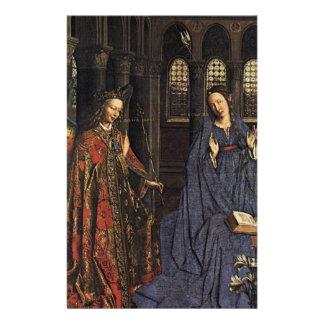 The Annunciation by Jan van Eyck Custom Stationery