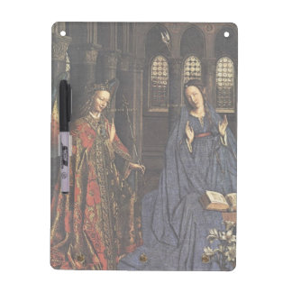 The Annunciation by Jan van Eyck Dry Erase Whiteboard