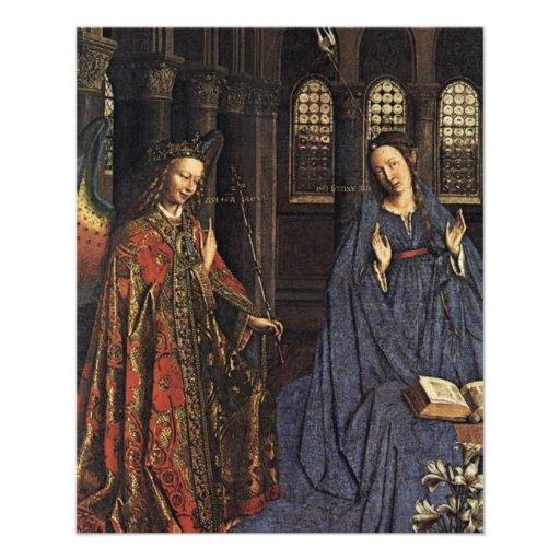 The Annunciation by Jan van Eyck Flyer