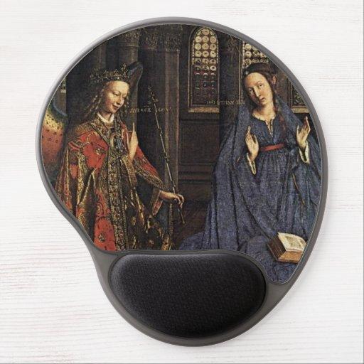 The Annunciation by Jan van Eyck Gel Mousepads