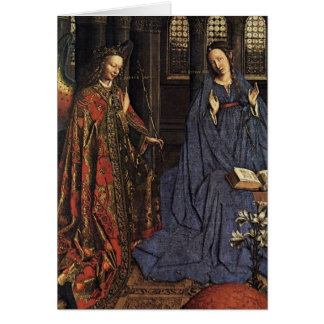 The Annunciation by Jan van Eyck Greeting Card