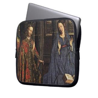 The Annunciation by Jan van Eyck Computer Sleeves