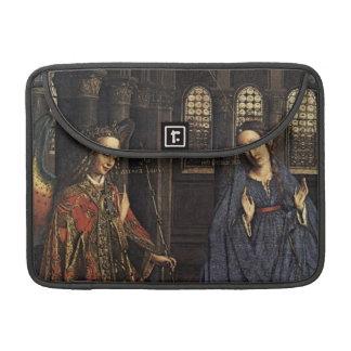 The Annunciation by Jan van Eyck Sleeves For MacBook Pro
