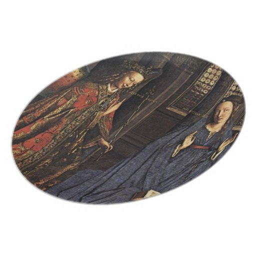 The Annunciation by Jan van Eyck Dinner Plate