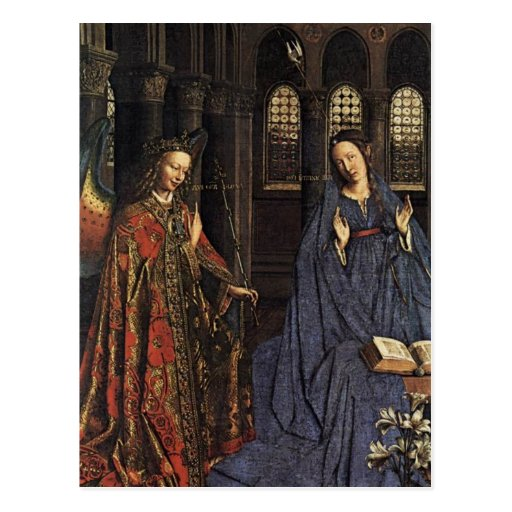 The Annunciation by Jan van Eyck Postcards