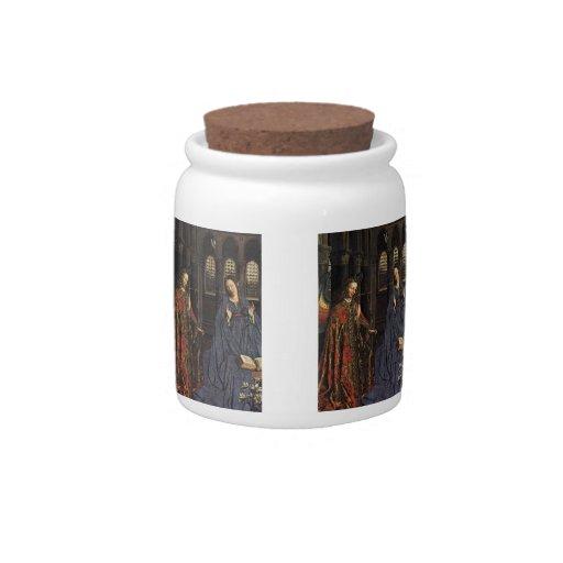 The Annunciation by Jan van Eyck Candy Jar