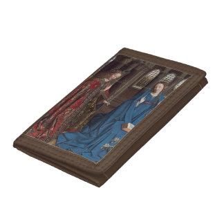 The Annunciation by Jan van Eyck Tri-fold Wallet