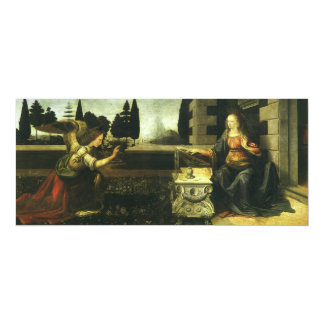 The Annunciation by Leonardo da Vinci 10 Cm X 24 Cm Invitation Card