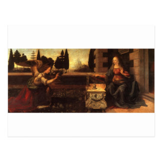 The Annunciation by Leonardo Da Vinci c. 1472-1475 Postcard