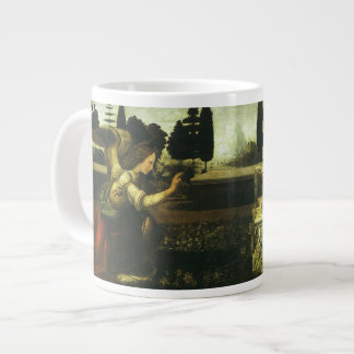 The Annunciation by Leonardo da Vinci Large Coffee Mug