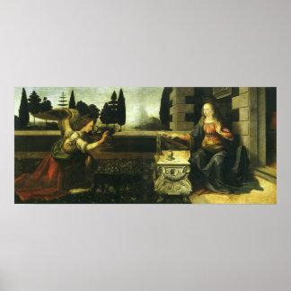 The Annunciation by Leonardo da Vinci Print