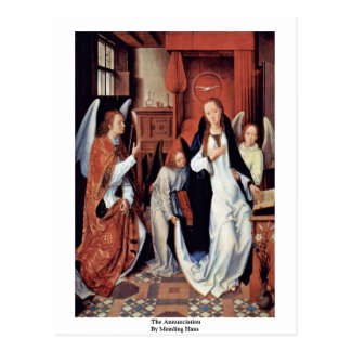 The Annunciation By Memling Hans Postcard