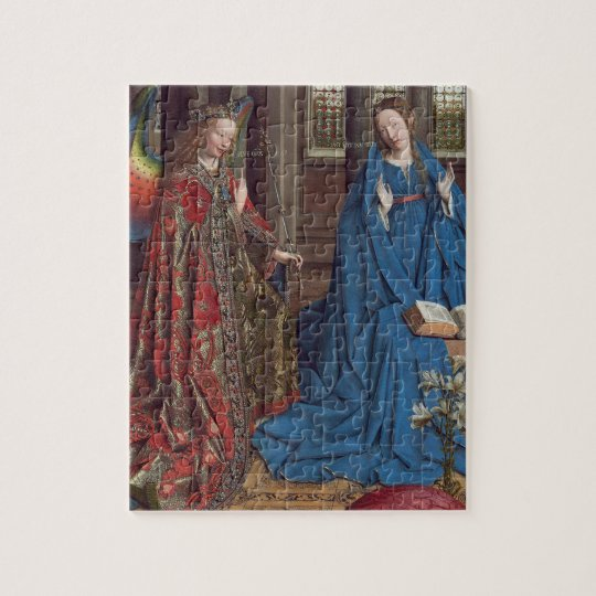 The Annunciation, c. 1434- 36 (oil on canvas) Jigsaw Puzzle
