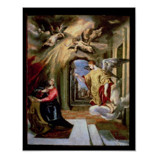 The Annunciation, c.1570-73 Poster