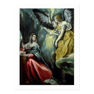 The Annunciation, c.1575 (oil on canvas) Postcard