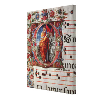 The Annunciation, historiated initial 'O' Gallery Wrapped Canvas