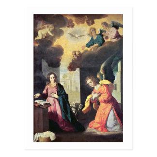The Annunciation (oil on canvas) Postcard