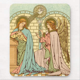 The Annunciation  (RLS 04) (Style 2) Mouse Pad