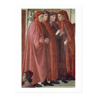 The Annunciation to St. Zacharias (fresco) (detail Postcard