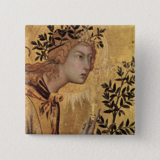 The Annunciation with St. Margaret 15 Cm Square Badge