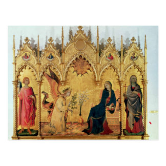 The Annunciation with St. Margaret and St. Postcard