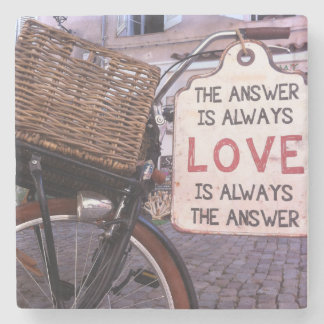 The Answer Is Always Love Stone Coaster