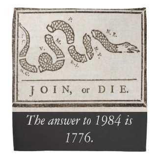 The answer to 1984 is 1776 bandana