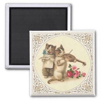 The Anthropomorphic Musical Kittens Magnet