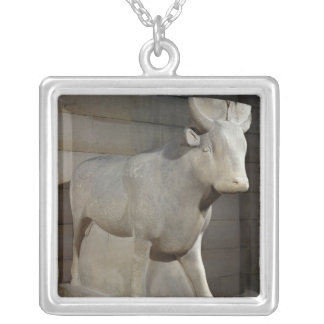 The Apis Bull, from the Serapeum, Memphis Silver Plated Necklace