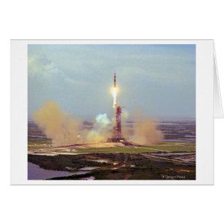 The Apollo Soyuz Test Project Saturn IB Launch Card