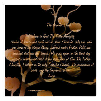 The Apostles Creed  by Sherri of Palm Springs Poster